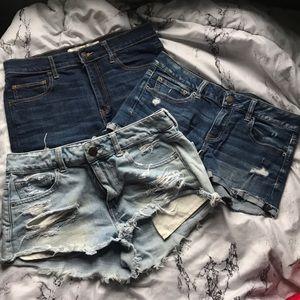 size 8 jean shorts bundle